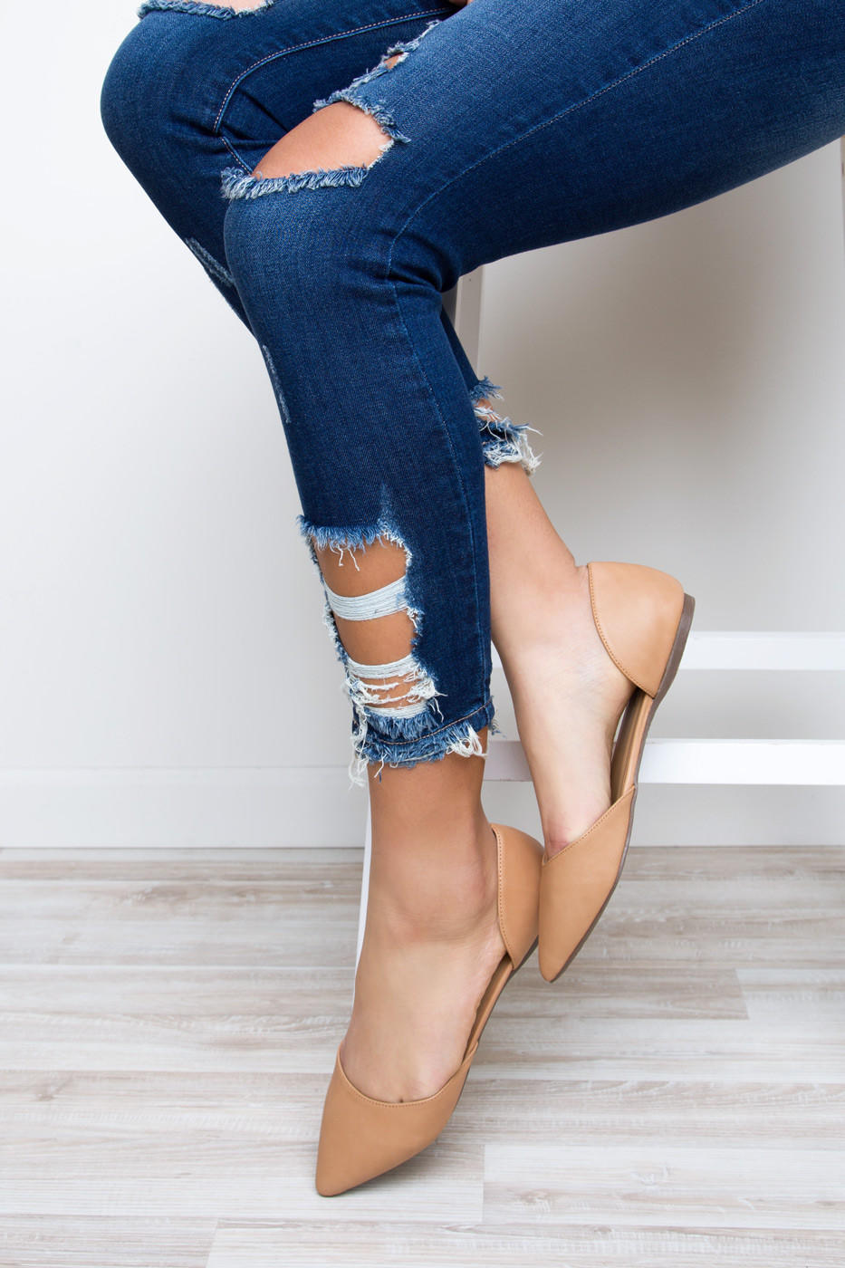 Cosette Flats Nude From Shop Priceless Shoes