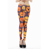 High waist Women  3D Printed  leggings Halloween leggins woman KDK1416