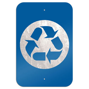 "Recycle Metal Sign 6"" x 9"""