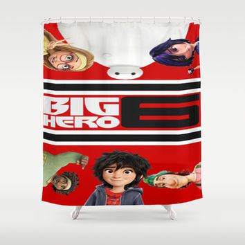 BIG HERO 6, FILMS,MOVIE Shower Curtain by Kareffsa