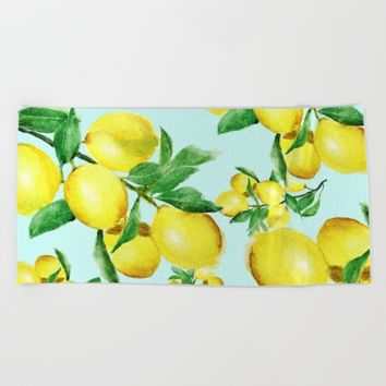 lemon 2 Beach Towel by Color and Color