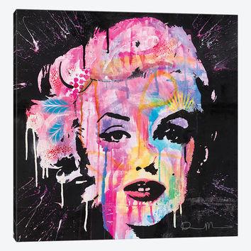 "Marilyn Monroe by Dean Russo Canvas Print 37"" L x 37"" H x 0.75"" D"