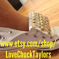 Studded Converse Custom Made Stars And Studs by LoveChuckTaylors
