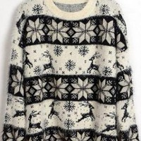 Christmas Deer &Snowflake  Sweater S008369