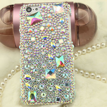 AB rhinestone iPhone 6 case iPhone 6 Plus case  iPhone 5s case iPhone 5 case Bling iPhone 4 case iPhone 5c case crystal iPhone 6 case