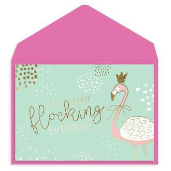 Flamingle Birthday Card