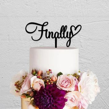 Personalized Wedding Finally Cake Topper