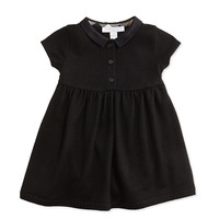 Peter Pan-Collar Dress, Black, 3M-3Y - Burberry - Black