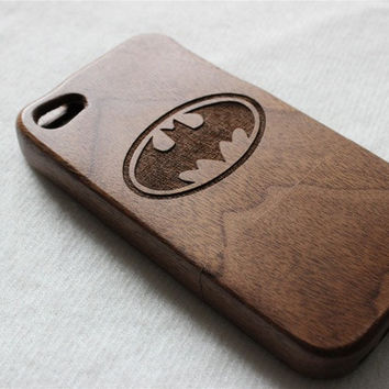 iphone 6 case, iphone 6 plus case, iphone 5s case , Wood iphone 5 case , Engraved Batman wood iphone 5s case , Walnut wood iphone case , wooden iphone 5 case = 1927993220