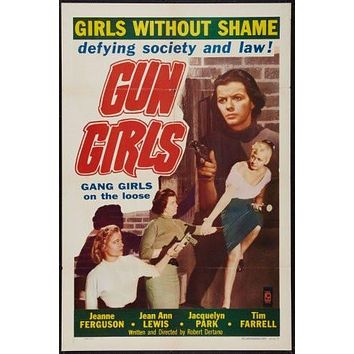 Gun Girls Movie poster Metal Sign Wall Art 8in x 12in