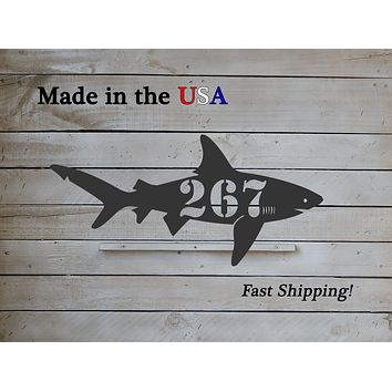 Shark Horizontal Address Plaque
