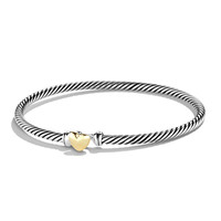 Cable Collectibles Heart Bracelet with Gold - David Yurman