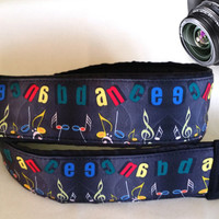 Dance Music Camera Strap. Notes Camera Strap. Camera  Accessories