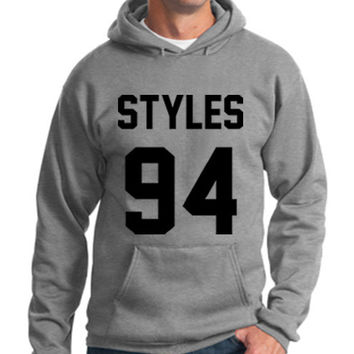One Direction Hoodie Harry Styles 94 Hooded Sweatshirt Logo Black White Gray Red Maroon Unisex Hoodie Tee S,M,L,XL #3