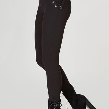 Side To Side Lace Up Pants