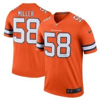 Men's Denver Broncos #58 Von Miller Orange Stitched Nike NFL Color Rush Limited Jersey