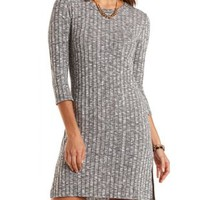 Ribbed Step Hem High-Low Dress by Charlotte Russe