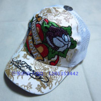 12pcs/lot Ed hardy hat fashion hiphop adjustable canvas cap embroidered logo baseball cap modern trend cap