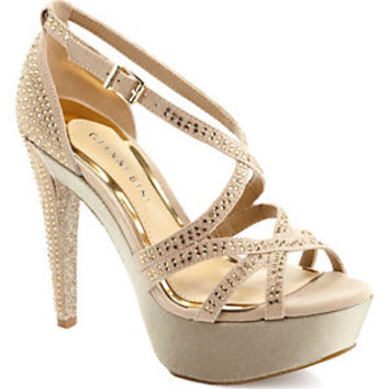 Gianni Bini Kyla Platform Jeweled Sandals | Dillard's Mobile