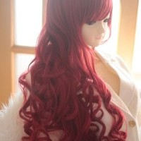 Liz Wig Dark Red Heat Friendly Long Curly Wave Princess Cosplay Party Hair Wig 31'' 80cm