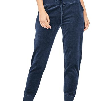 Velour Crush Ankle Joggers