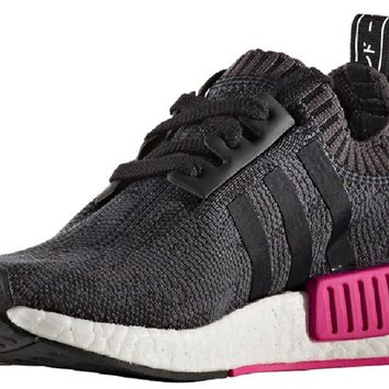 adidas NMD_R1 Prime Knit Women's Black/White/Pink - BB2364 (9)