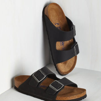 Strappy Camper Sandal in Black - Narrow | Mod Retro Vintage Sandals | ModCloth.com
