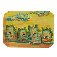 "Carina Povarchik ""Singing Cats"" Yellow Orange Place Mat"