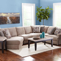 Malibu 3 Pc. Sectional Featuring Left Arm Cuddler Chaise - Sectionals - Living Room - mobile