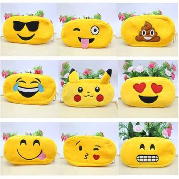 NOVERTY Cute kawaii 3D plush panda pencil case large capacity school supplies item for kids multifunctional free shipping 04815