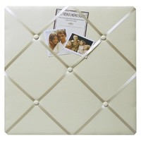 "Twill French Memo Board - Ivory (18x20"")"
