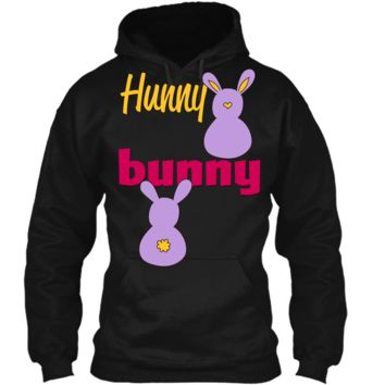Hunny Bunny T-shirt-Funny Easter bunny t-shirt Pullover Hoodie 8 oz