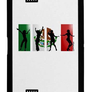 Mexican Flag - Dancing Silhouettes Black Jazz Kindle Fire HD Cover by TooLoud