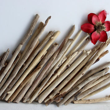 Straight Driftwood Sticks Set of 36 Natural Craft Supply  Home and Wedding Decor s-36