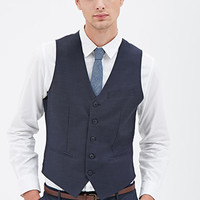 Colorblocked Suit Vest