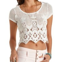 Crochet Crop Top by Charlotte Russe