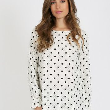 Darling Polka Dot Blouse