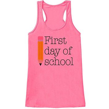 Custom Party Shop Womens First Day of School Tank Top