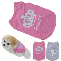 Summer Vest T-Shirt Pet Clothes For Dogs And Cats