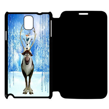 Frozen Snowflake Samsung Galaxy Note 4 Flip Case Cover