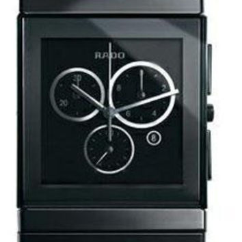 Rado Men's Ceramica Black Ceramic Chronograph Date Watch R21714152