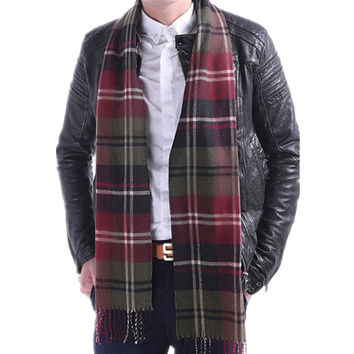 HOT SALE New 15 Colors Cashmere Men's tassel British winter scarves and autumn scarf men with colorful plaid SC2038 Soft
