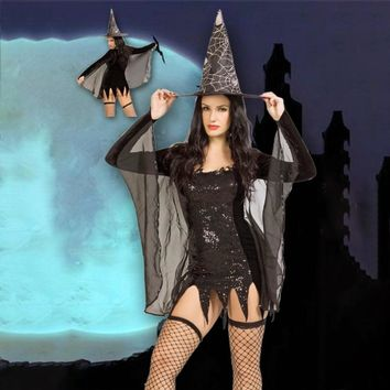 Witch Wear Uniform Costumes Sexy Temptation Cosplay Lingerie Fancy Dress Costume Suit for Party Halloween Carnival Party Costume