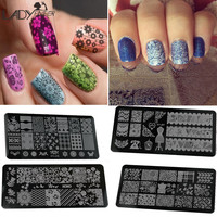 Lady Finger 1 Pcs Nail Art Stamp Stamping Image Plate 6*12cm Stainless Steel Nail Template Manicure Stencil Tools XYJ01-16