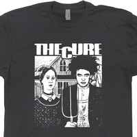 The Cure T Shirt Robert Smith Shirt 80s Vintage Rock Band Tee
