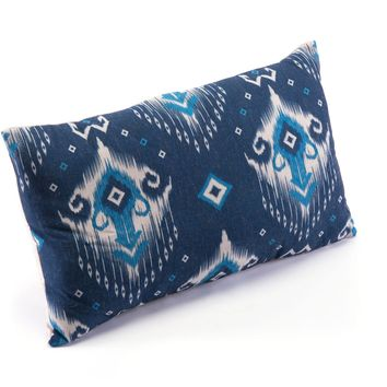 Blue & Natural Ikat Pillow