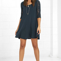 Others Follow Baby Love Navy Blue Swing Dress