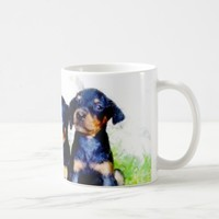 Doberman puppies mug