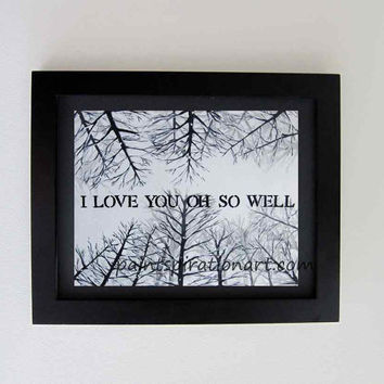 Dave Matthews Band I Love You Oh So Well Song Lyrics Art Original Quote Painting - Custom Size Music Art Print - Snow Trees Artwork