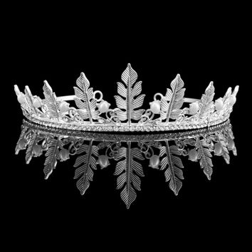 Wedding Prom Bridal Crown Rhinestone Crystal Tiara Pageant Princess Cosplay